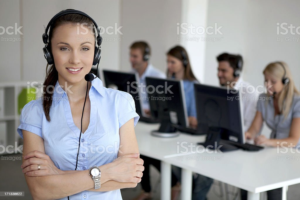 Customer service operator in office. royalty-free stock photo