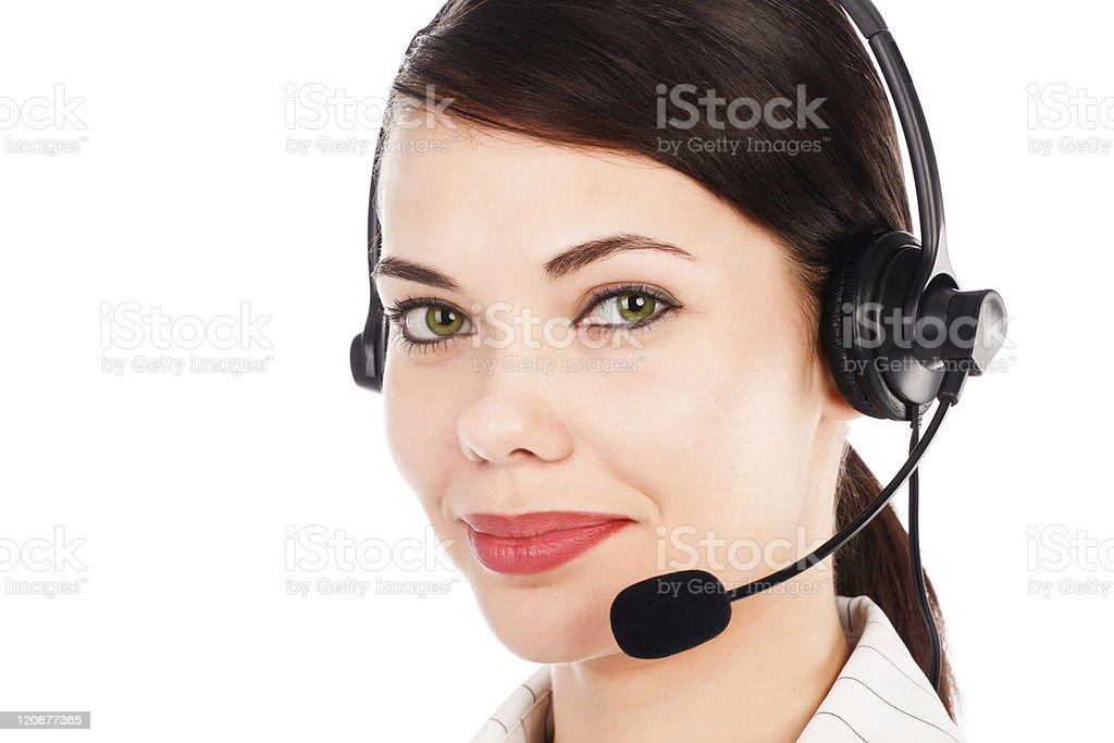 customer service operator royalty-free stock photo