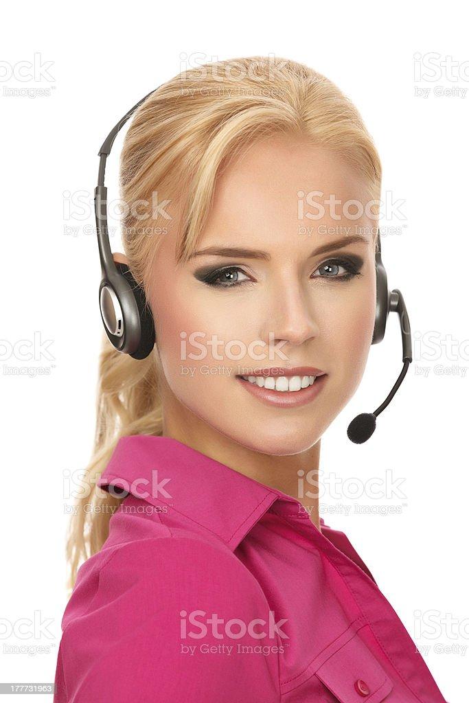 Customer service phone call stock photo