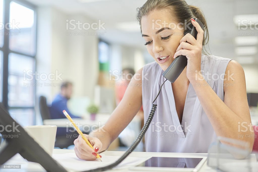 customer service phone call stock photo