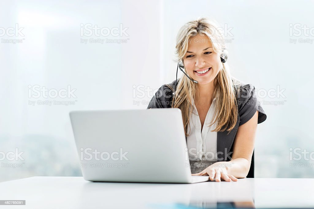 Customer service. stock photo
