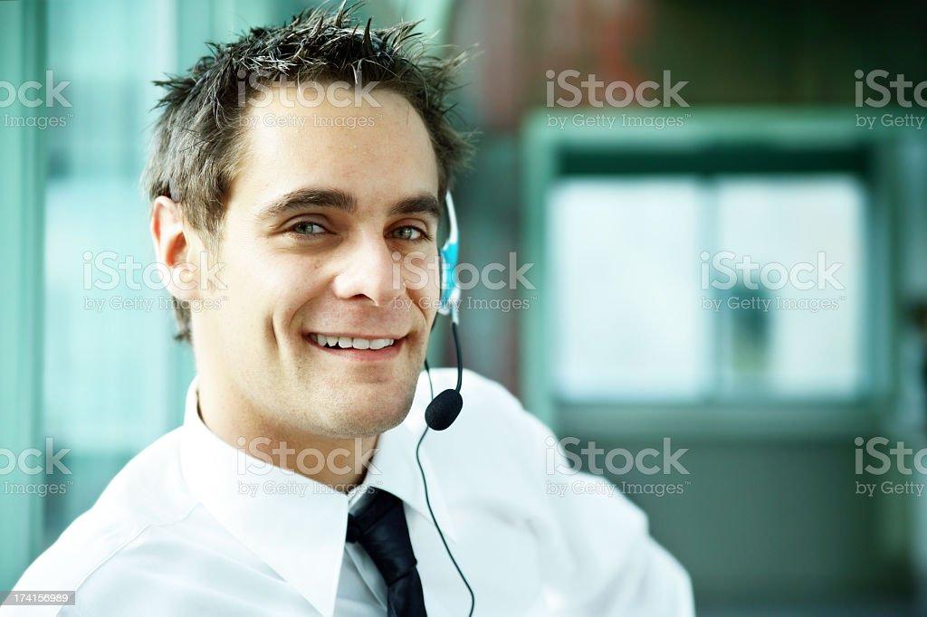Customer service portrait royalty-free stock photo