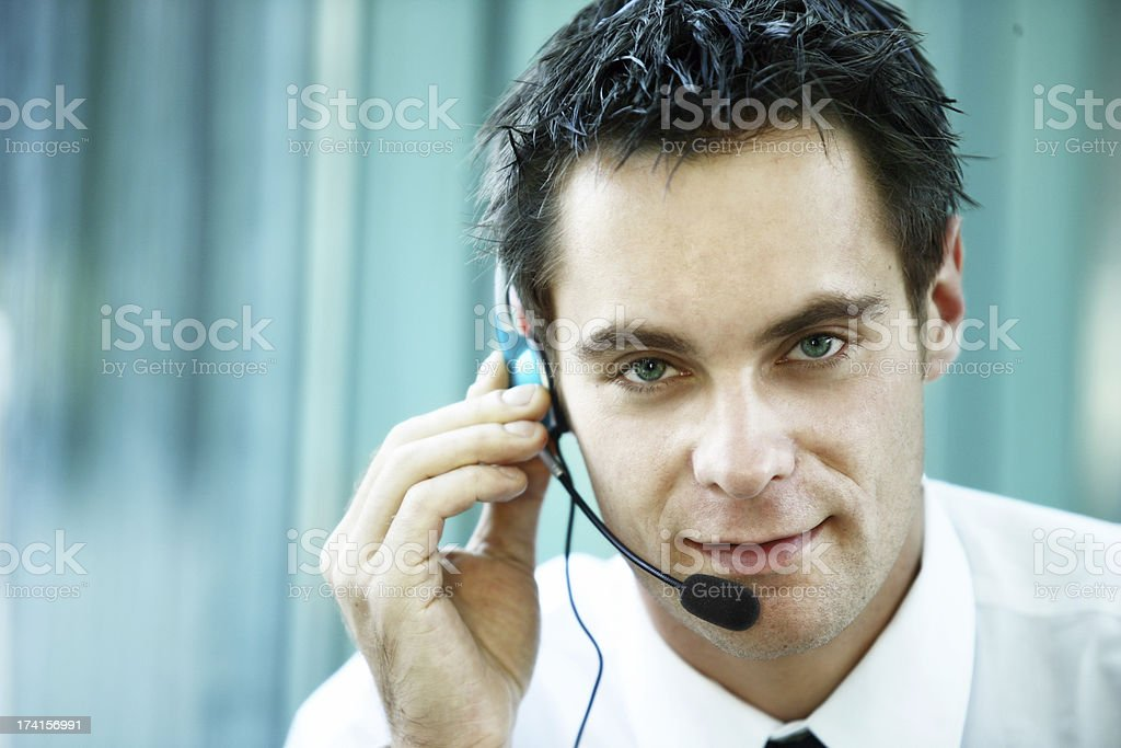 Customer service portrait royalty-free stock photo