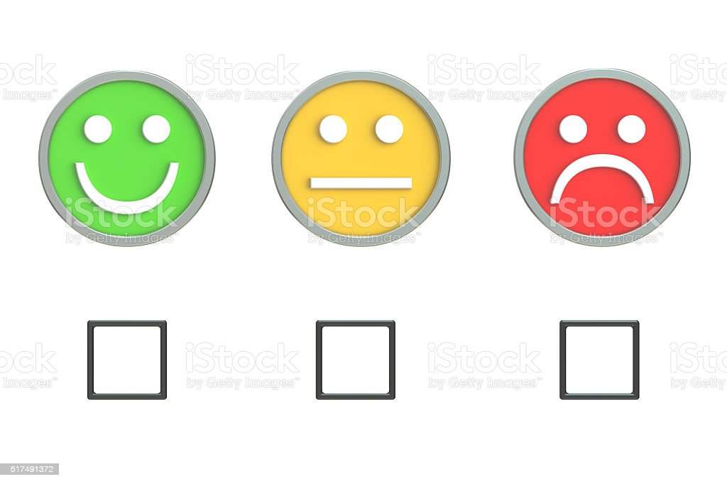 Customer Service Quality Feedback 3D rendering stock photo