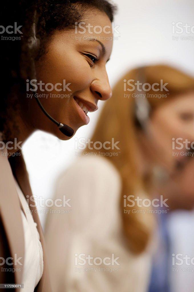 Customer Service Rep royalty-free stock photo
