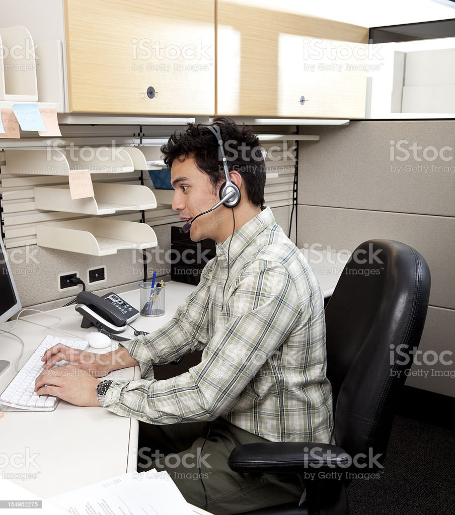 customer service rep royalty-free stock photo