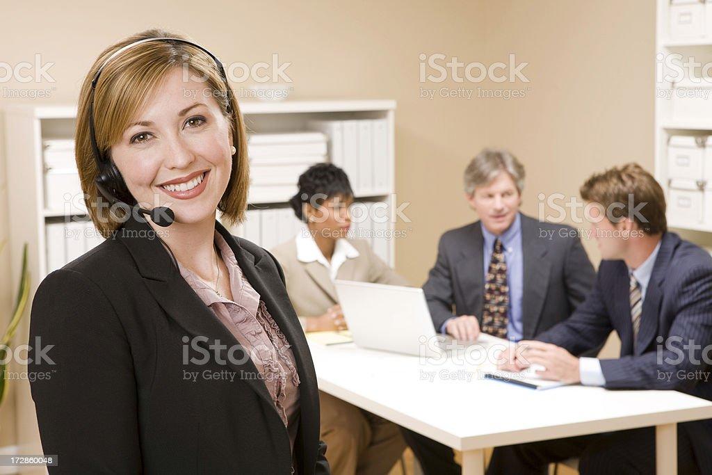 Customer Service Representative and Team royalty-free stock photo