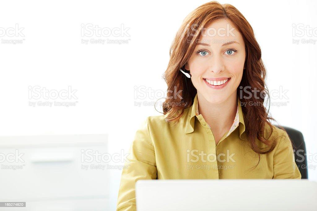 Customer Service Representative at work royalty-free stock photo