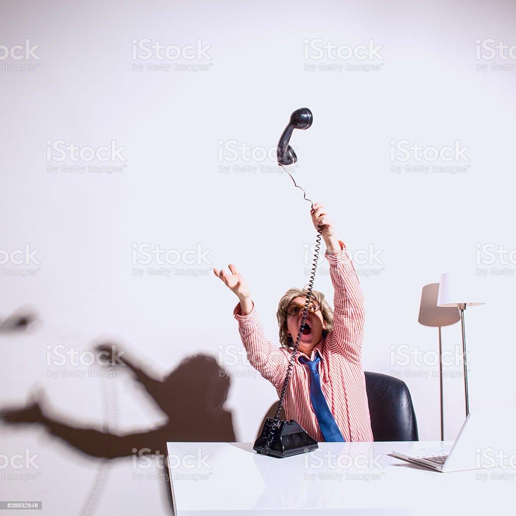 Customer Service Representative Disaster stock photo