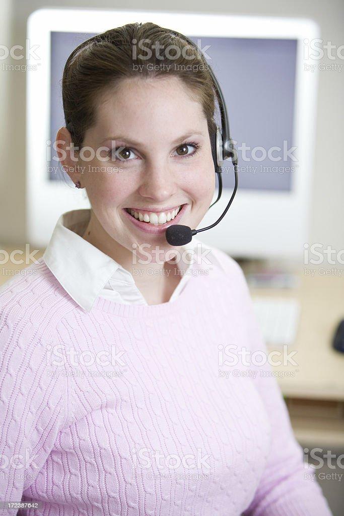 customer service representative royalty-free stock photo