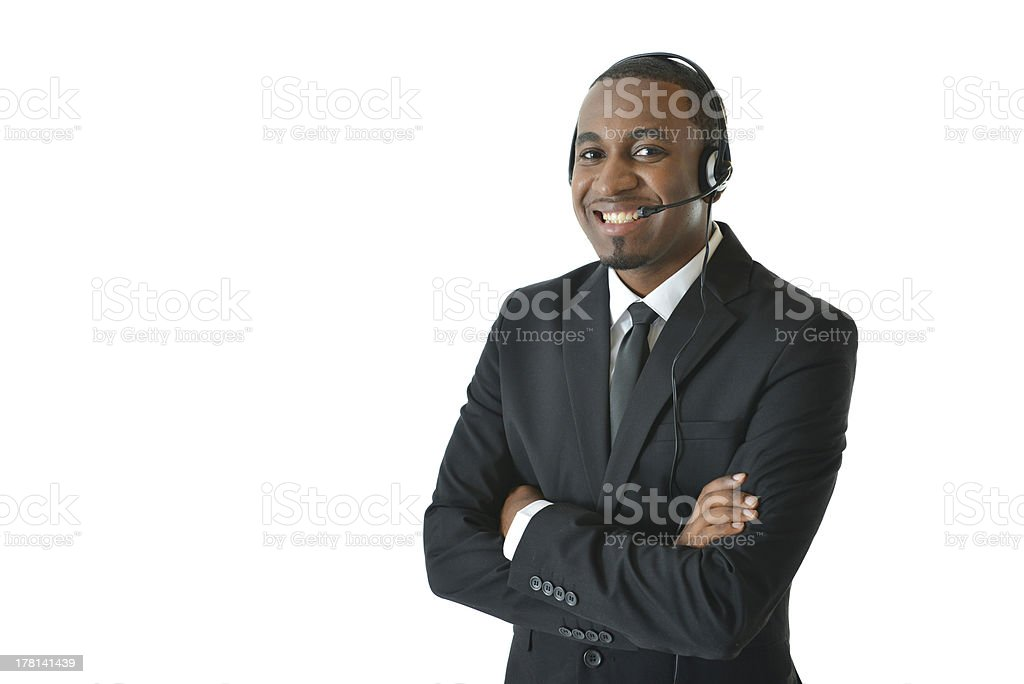 Customer Service Representative with Arms Crossed royalty-free stock photo