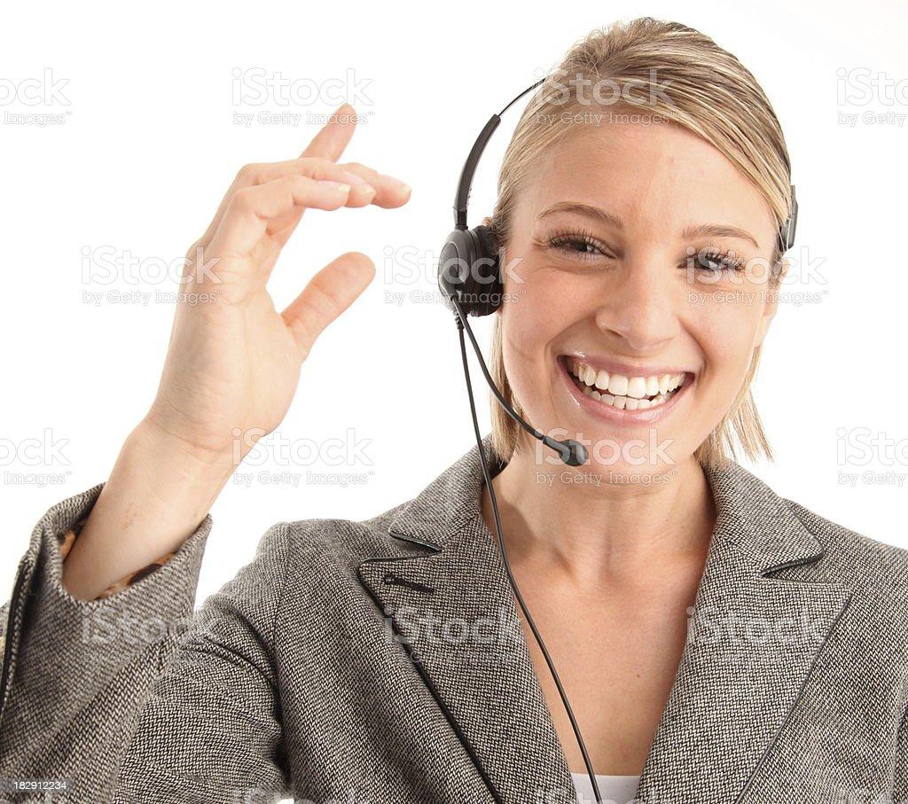 Representante de Servicio al cliente con auriculares. foto de stock libre de derechos