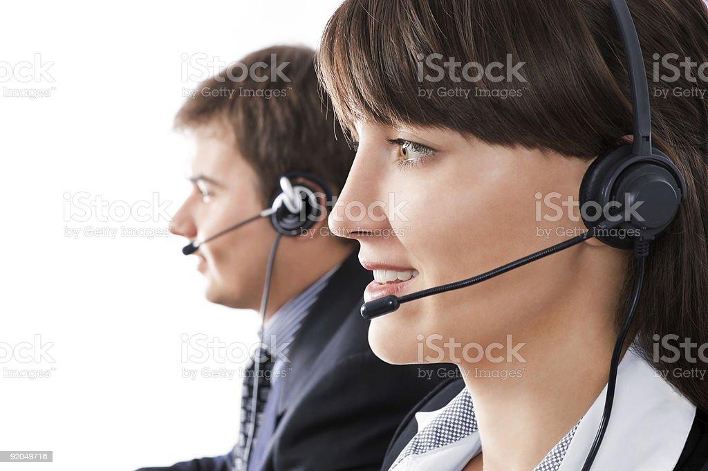 Customer service representatives royalty-free stock photo
