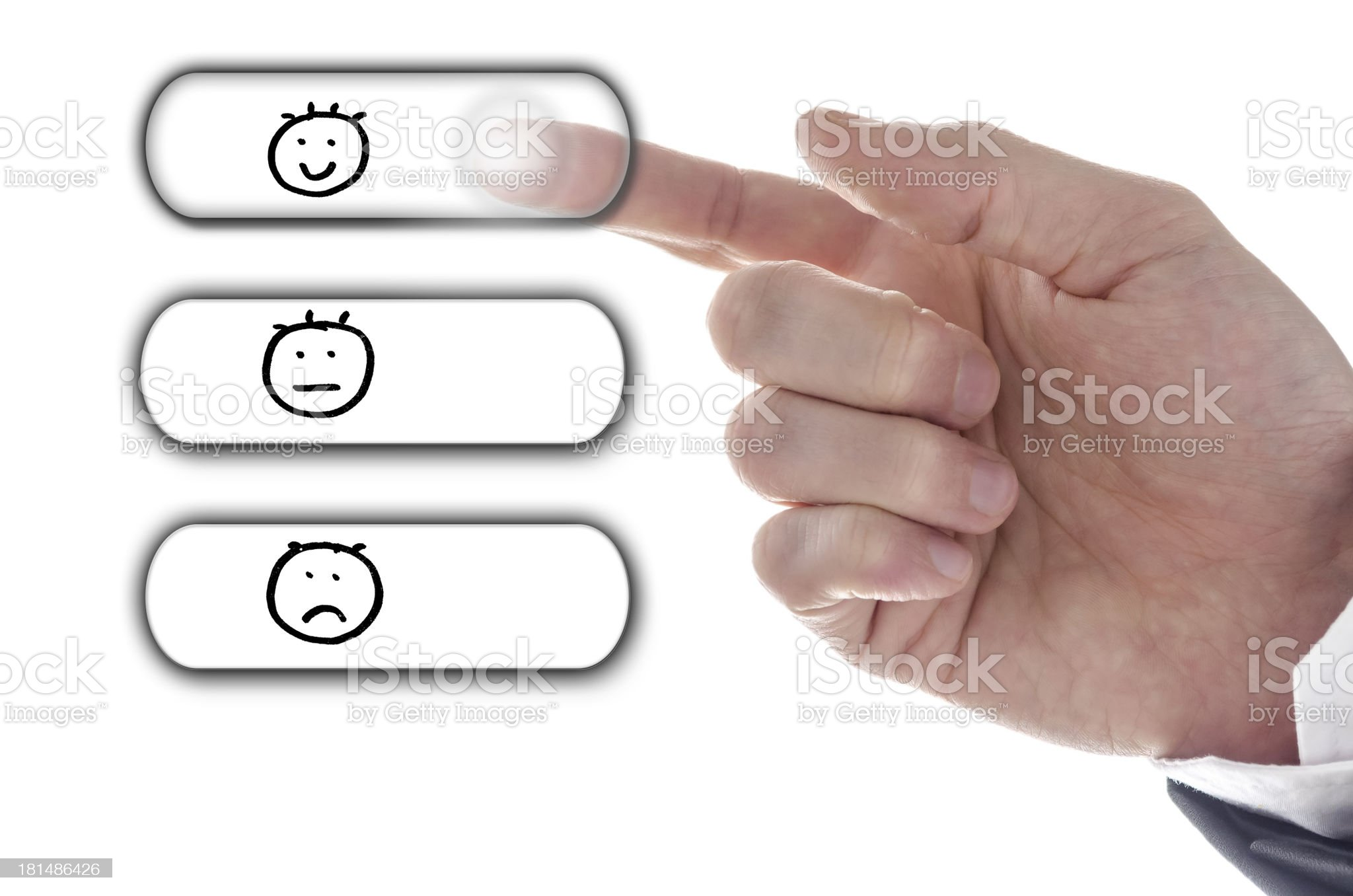 Customer service satisfaction concept royalty-free stock photo