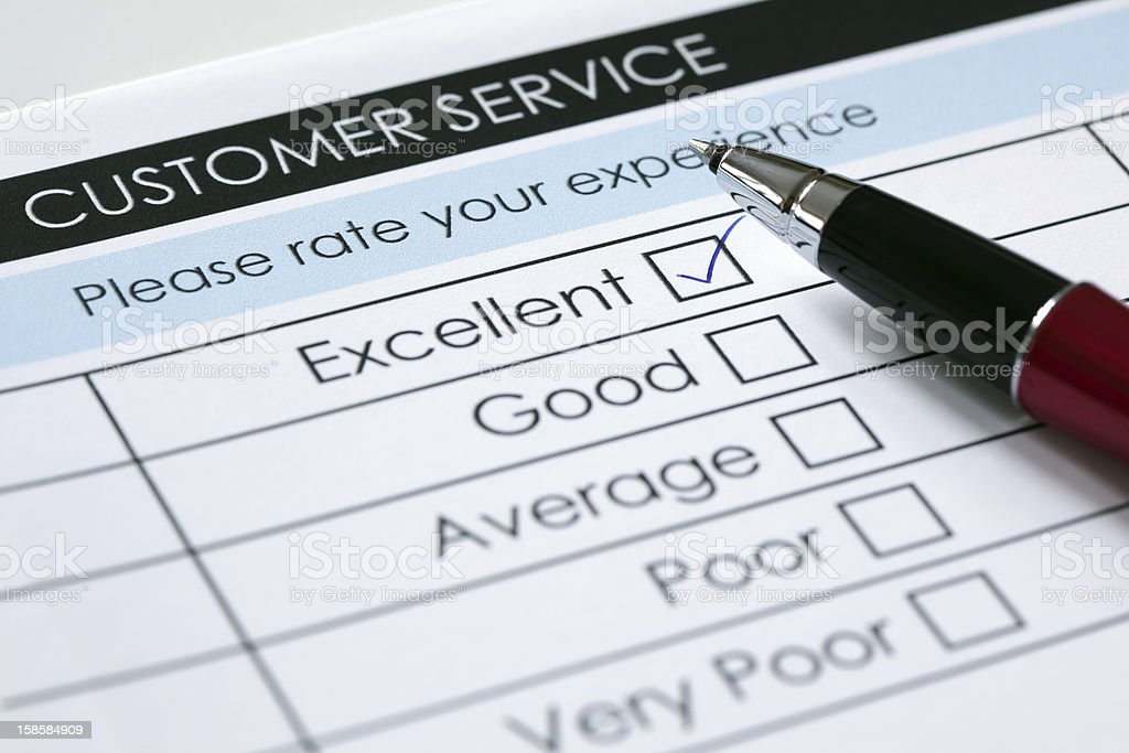 Customer service satisfaction survey royalty-free stock photo