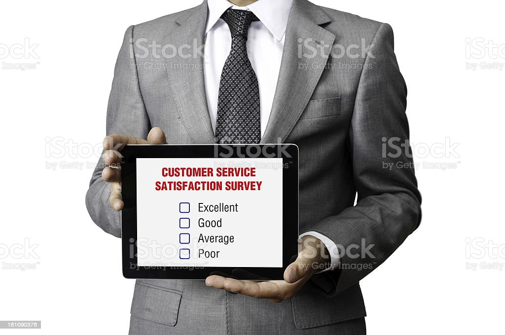 Customer Service Satisfaction Survey royalty-free stock photo