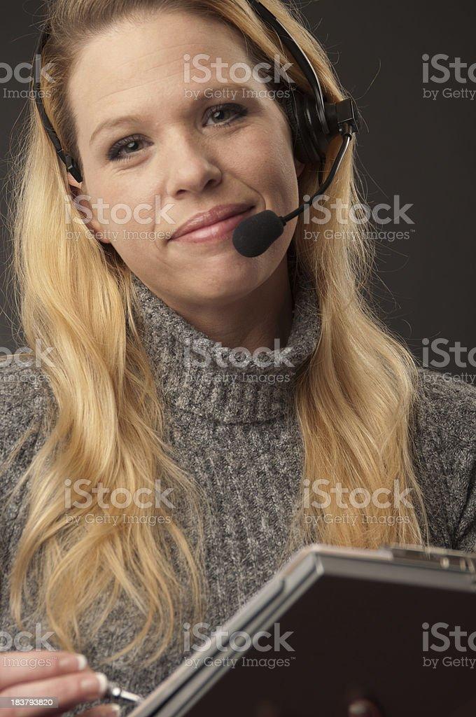 Customer Service Smiles stock photo