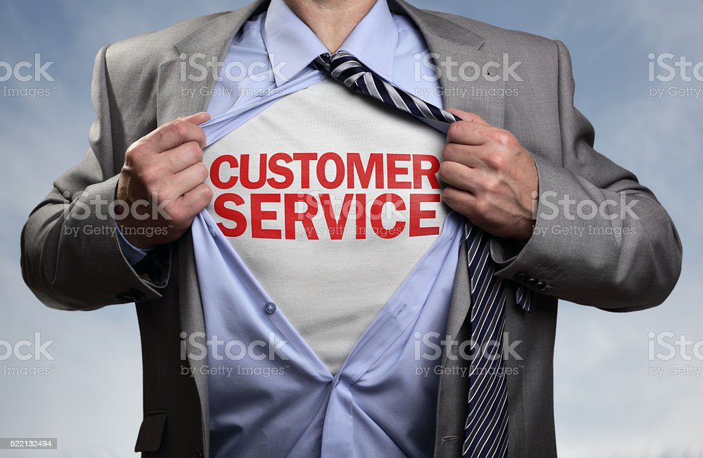 Customer service superhero stock photo