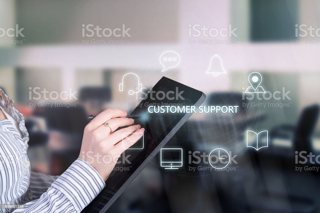 Customer service support. stock photo