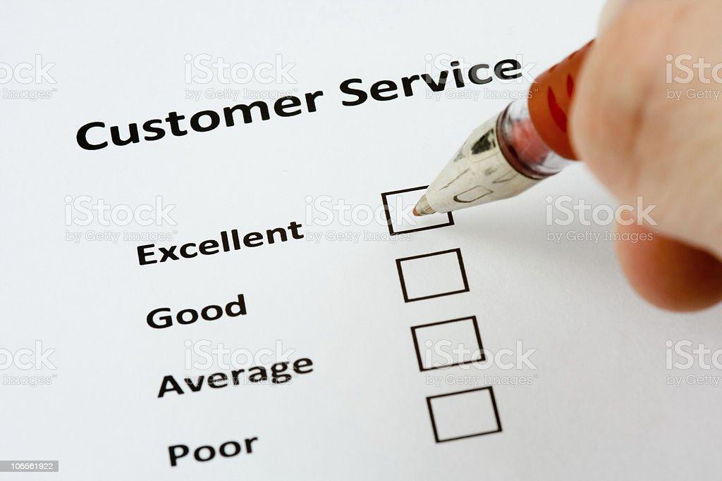 Customer service survey stock photo