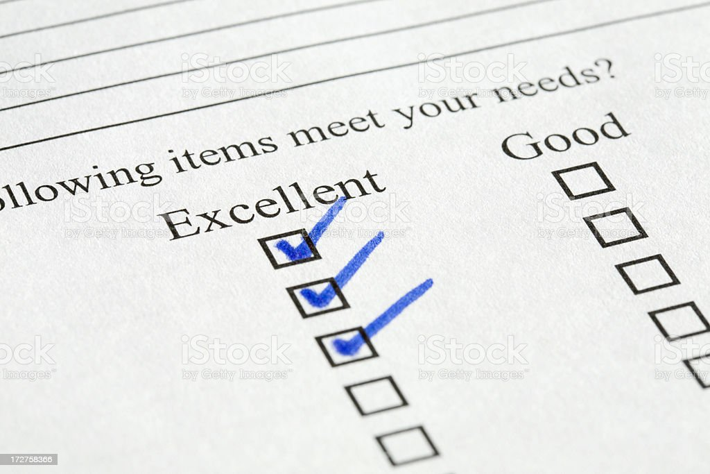 Customer Service Survey royalty-free stock photo