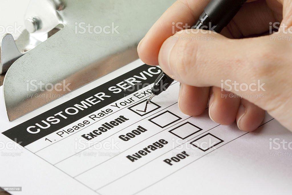 Customer service survey royalty-free stock photo