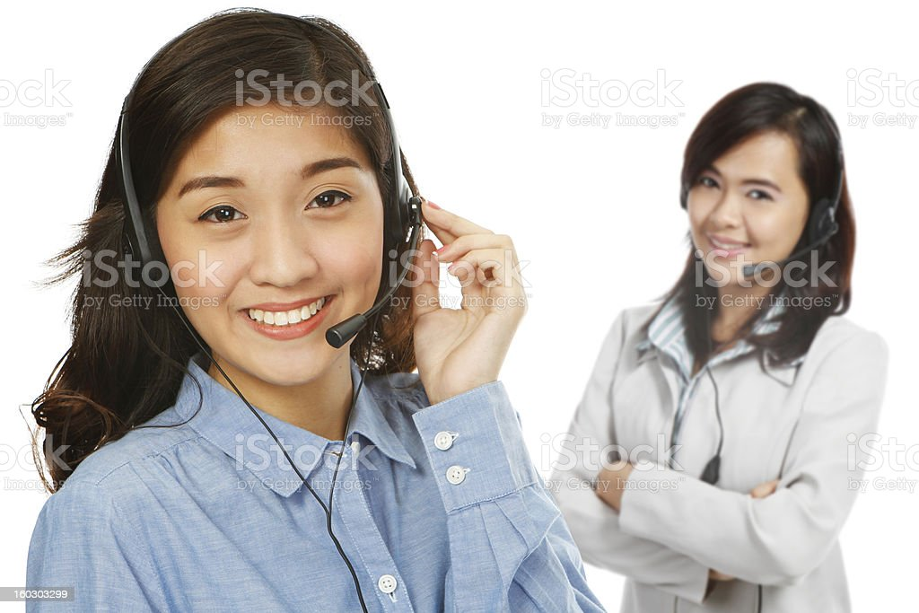 Customer Service Team royalty-free stock photo