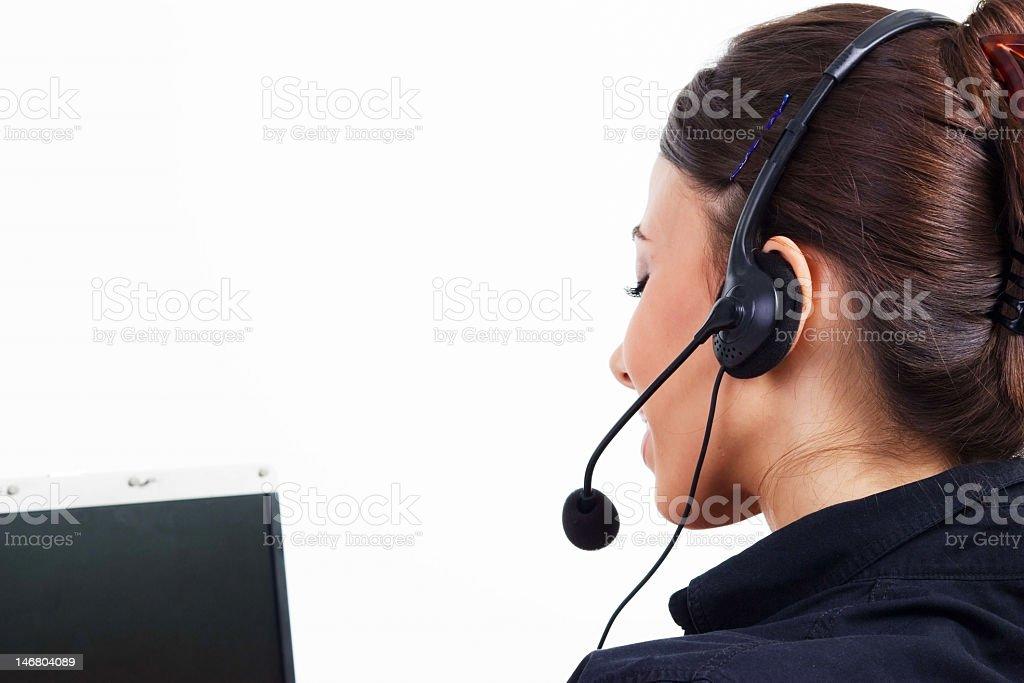 Customer service woman stock photo