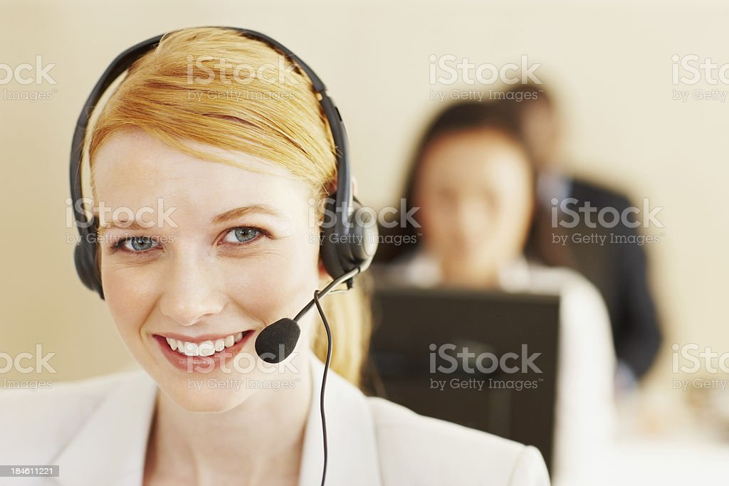 Customer service woman royalty-free stock photo