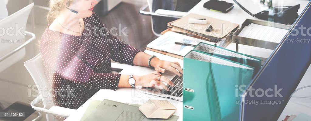 Customer Service Working Communication Help Concept stock photo