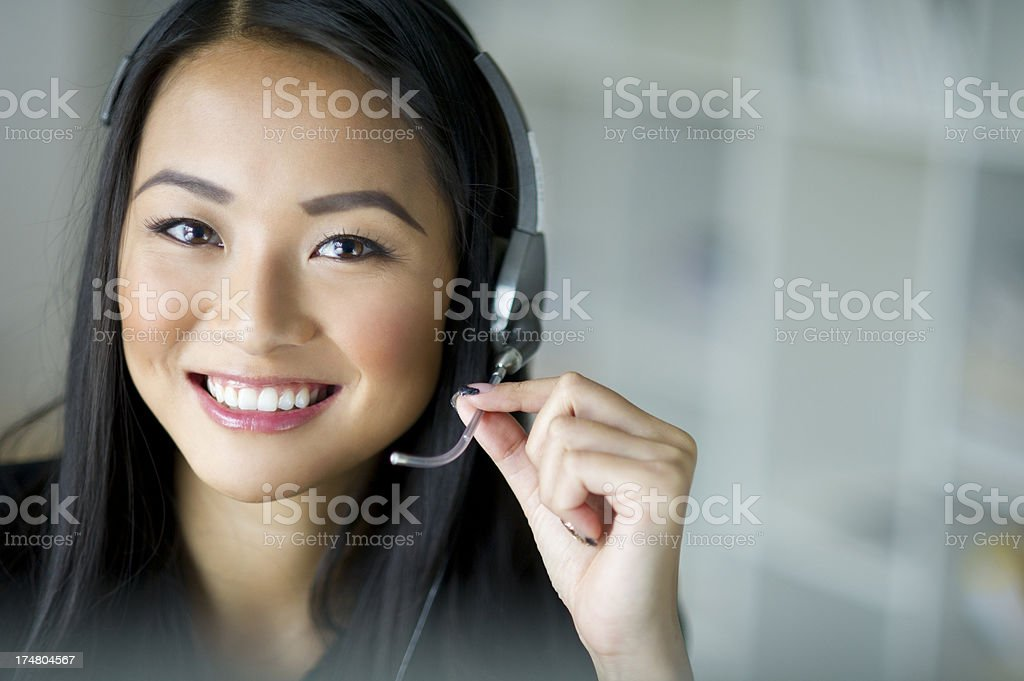 customer services representative royalty-free stock photo