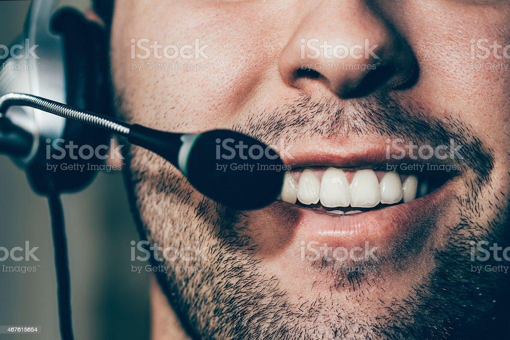 Customer Services Representative stock photo