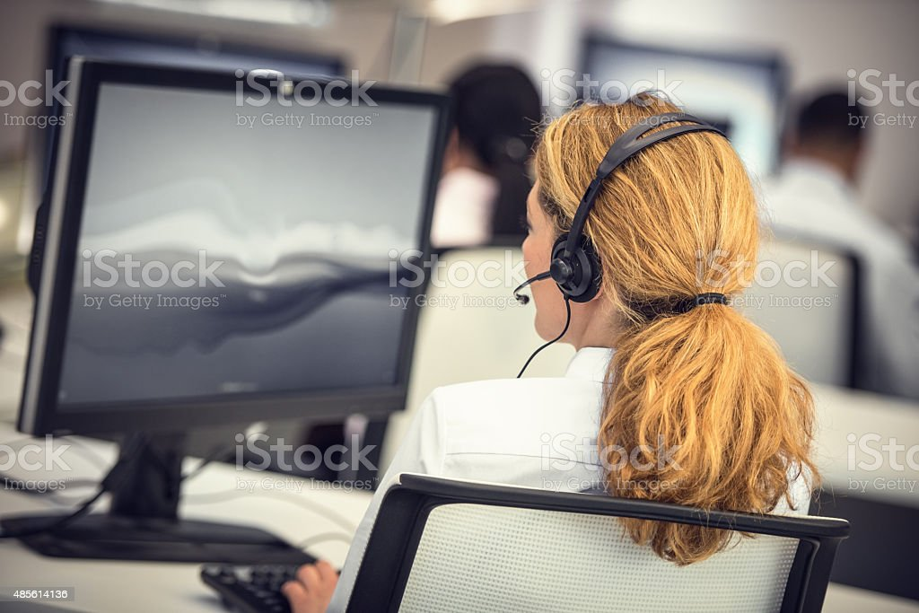 Customer support center stock photo