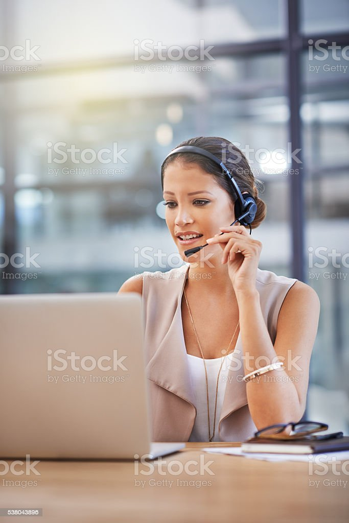 Customer support is not a service, it's an attitude stock photo