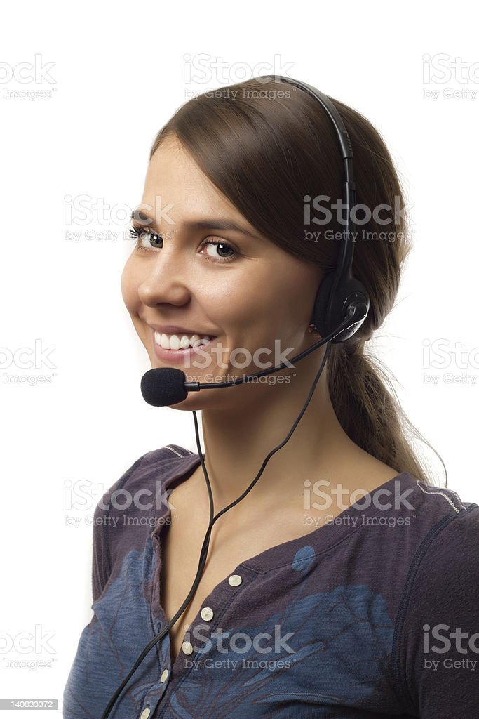 Customer Support on White royalty-free stock photo