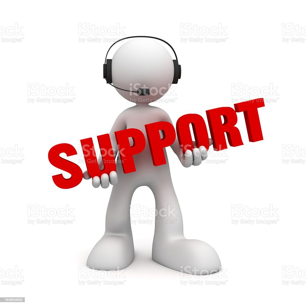 Customer Support Service royalty-free stock photo