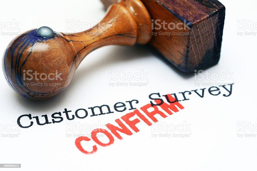 Customer survey - confirm stock photo