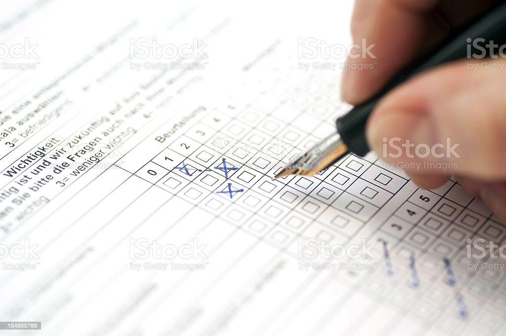 customer survey - Kundenumfrage stock photo