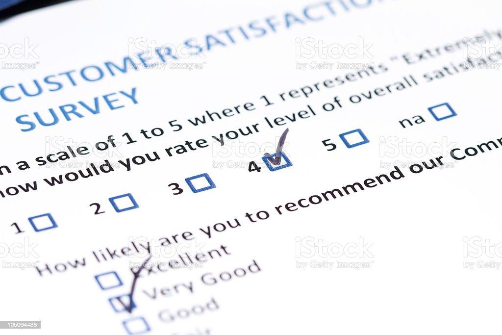 Customer Survey royalty-free stock photo