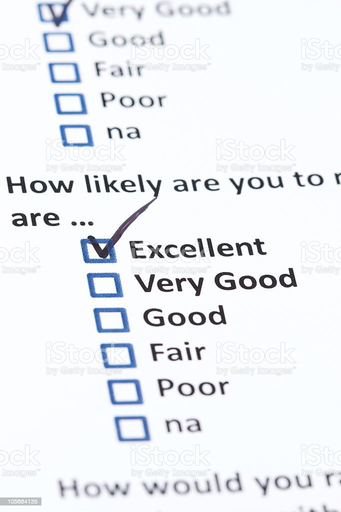 Customer Survey royalty-free stock photo