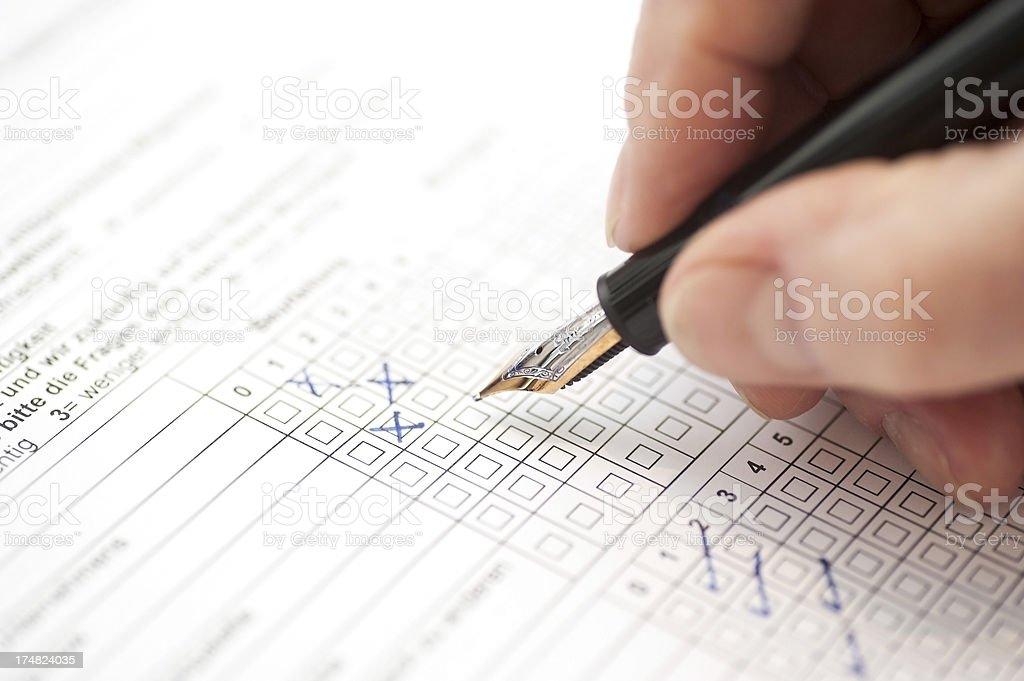 customer survey - Umfrage stock photo