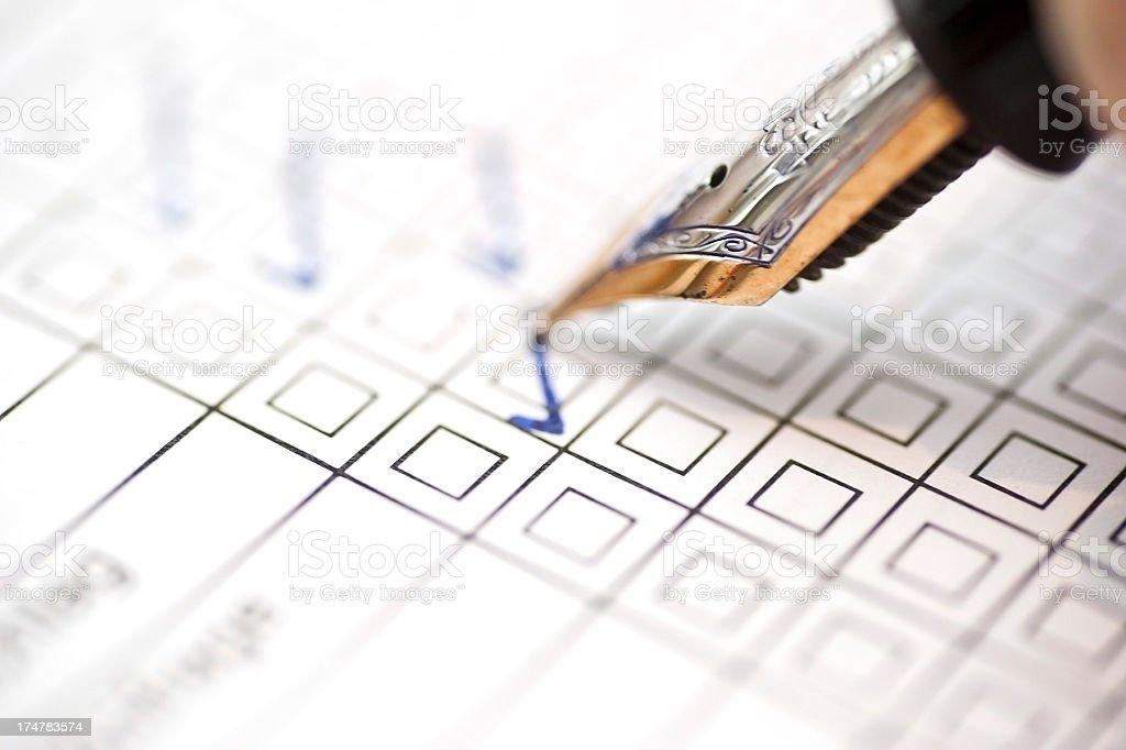 customer survey -Zufriedenheitsanalyse royalty-free stock photo