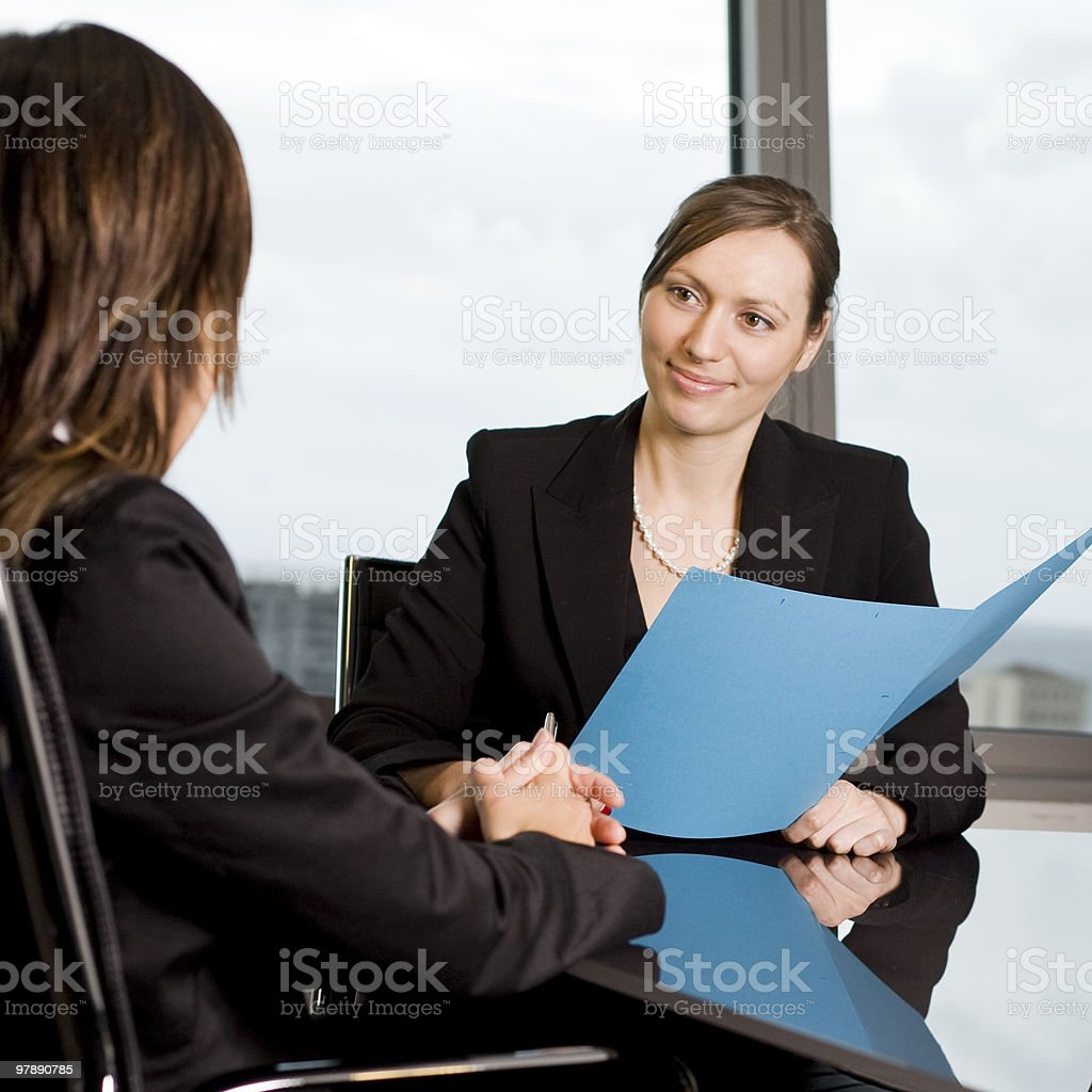 Customer talk royalty-free stock photo