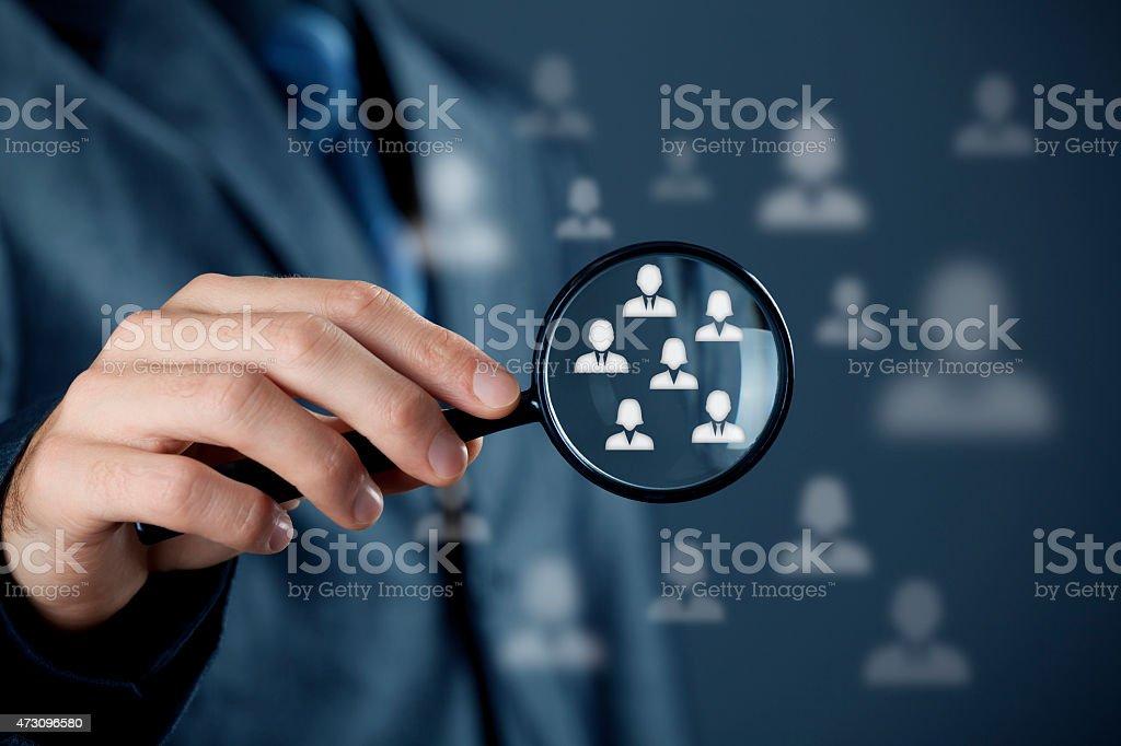 Customer target audience stock photo