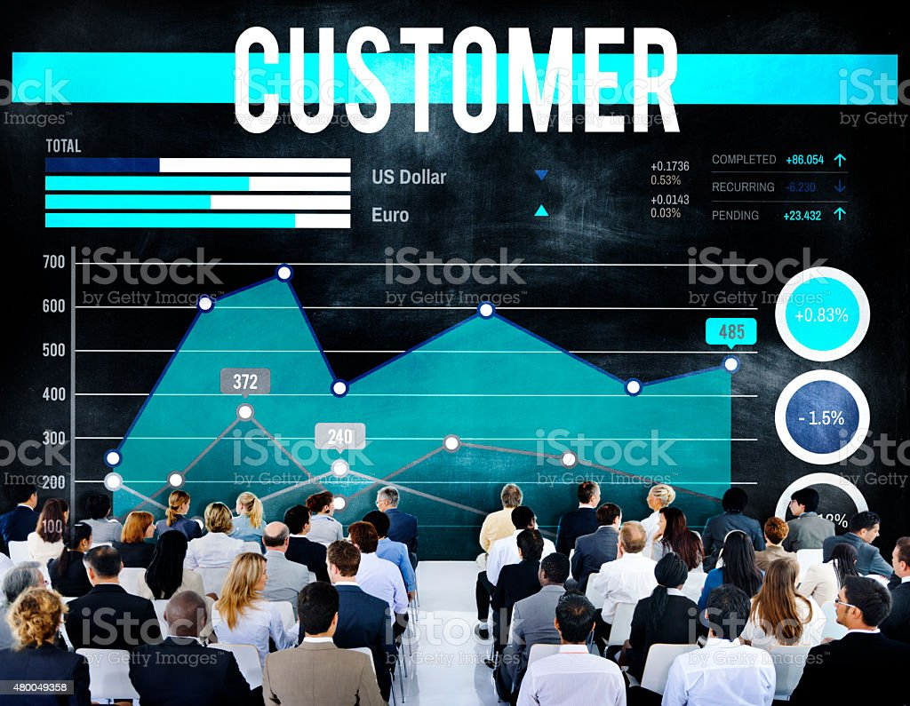 Customer Target Marketing Business Strategy Concept stock photo