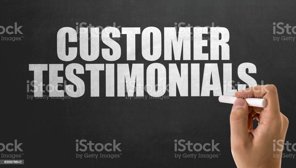 Customer Testimonials stock photo