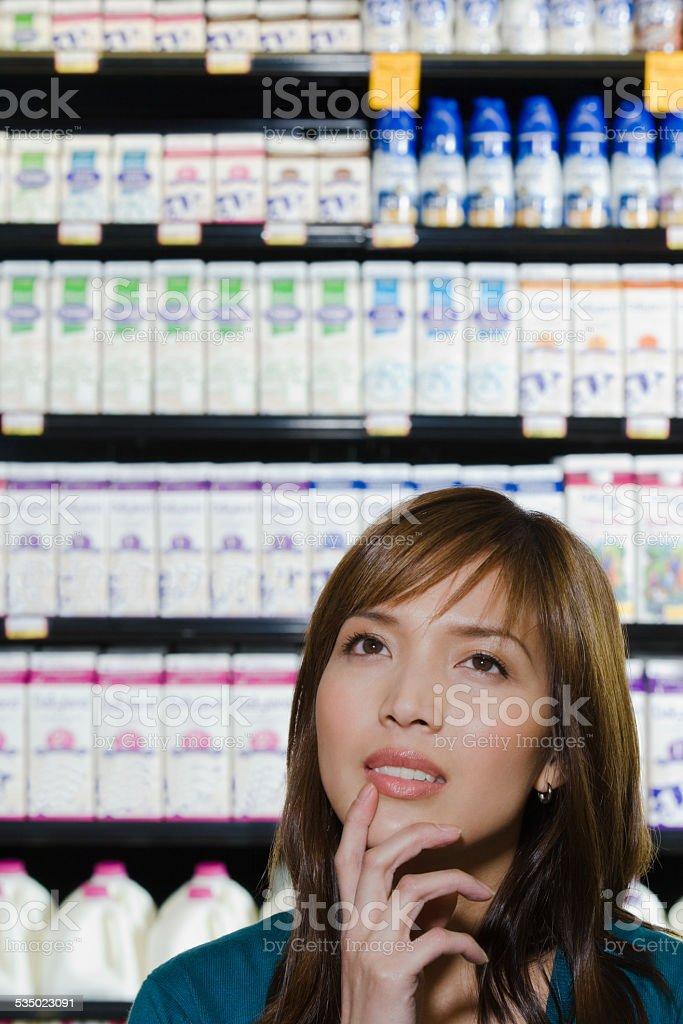 Customer thinking stock photo