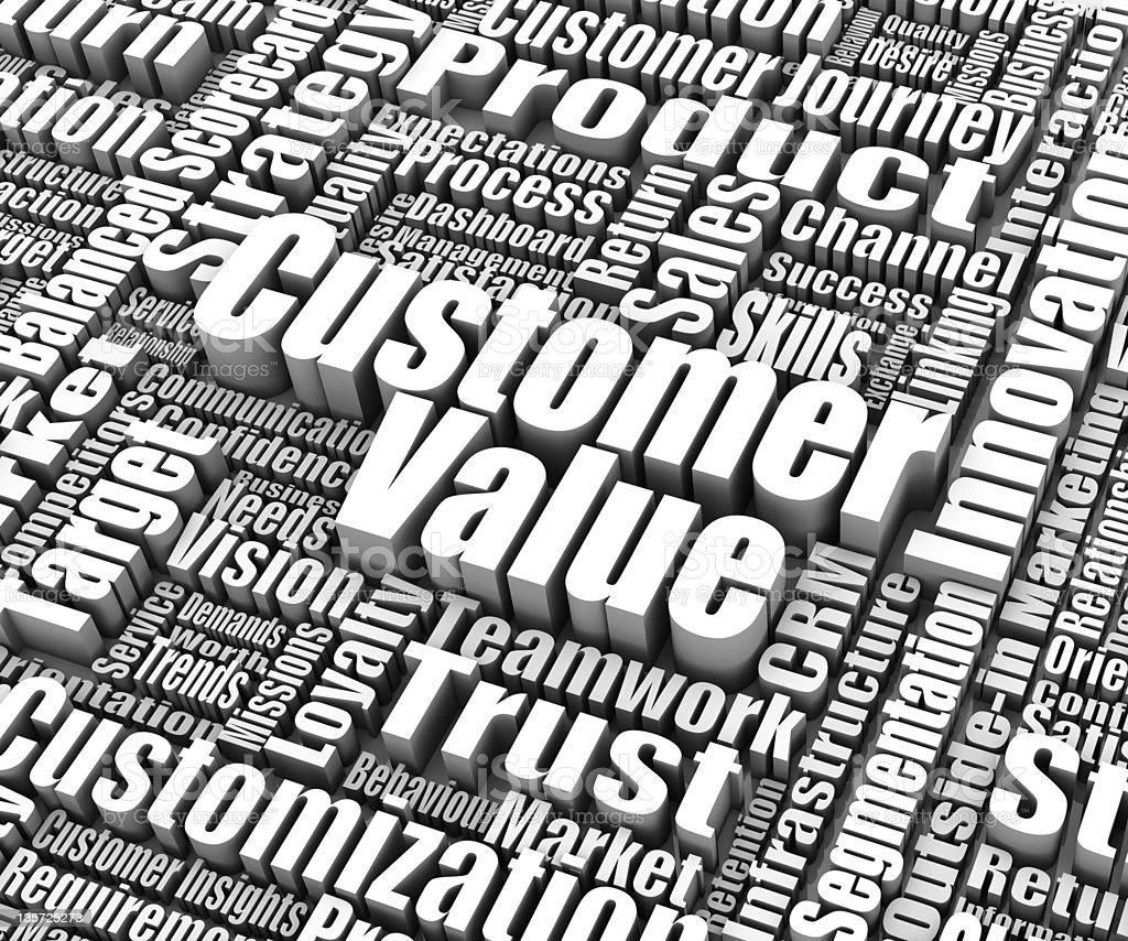 Customer Value vector art illustration