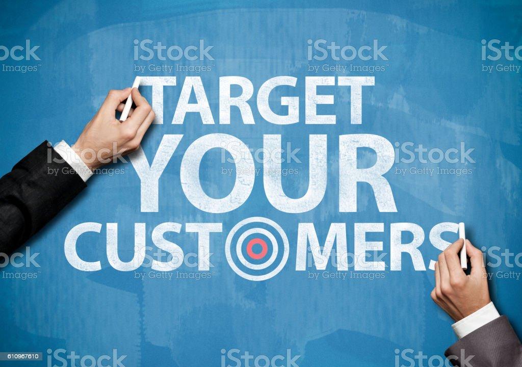 Customers / Blue board concept (Click for mroe) stock photo