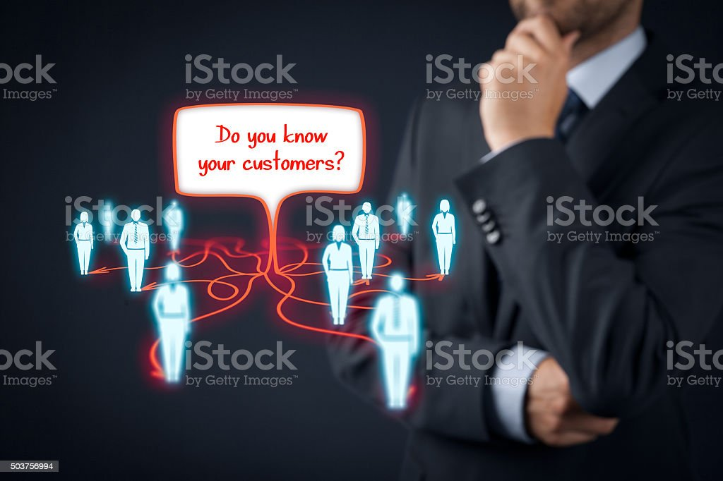 Customers stock photo